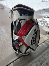 Titleist Staff Golf Cart Bag Free Shipping w Raincover White, Blue White