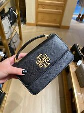 NWT Tory Burch Britten Leather Mini Top Handle Crossbody Black 73509