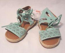 New Girl's Genuine Kids From Oshkosh Pastel Turquoise Dena Sandals Shoes Size 8