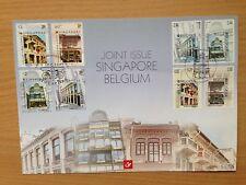 Belgium Singapore Souvenir Cover 2005 Joint Issue. Historic Buildings