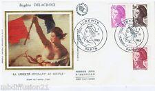 1982**ENVELOPPE**FDC 1°JOUR!!**LIBERTE.DELACROIX-DRAPEAUX**Y/T 2242.43.44