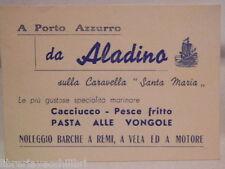 Biglietto a Porto Azzurro da ALADINO Caravella SANTA MARIA Specialità marinare