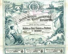 France bond 1906 Paris Cinematographer ECLIPSE 100 fr Uncancelled coup TOP DECO