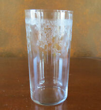 """Central Glass Works #11 Etch Floral Band 14 oz 5 ½"""" Flat Tumbler(s)"""