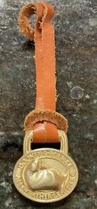 Dooney and Bourke Leather Brass Duck FOB Hangtag Lanyard