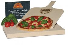 3cm Pimotti Pizzastein Brotbackstein aus Schamott +Schaufel +Anleitung & Rezepte