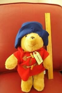 VINTAGE EDEN PADDINGTON BEAR RED COAT 16 INCH PLUS ALL TAGS FREE SHIPPING