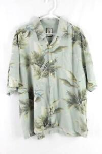 Vintage Jamaica Jaxx Green Tropical Shirt Men's Size XXL Authentic Island Style