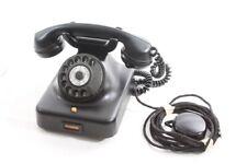 Old Wählscheibentelefon W38 Bakelite Telephone Dial Black Junction Box