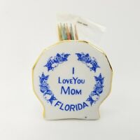 Vtg Japan Made Porcelain Toothpick Holder I Love You Mom Mothers Day Florida