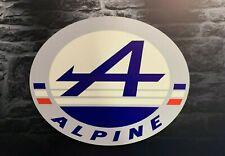 Enseigne Plaque Décorative Renault ALPINE ( 50 cm x 41 cm)