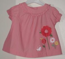 GYMBOREE Size 6-12 Months Pink Short Sleeve Blouse