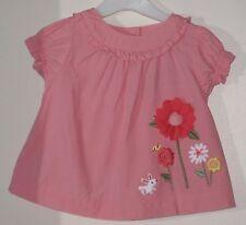 GYMBOREE Size 6-12 Months Pink Short Sleeve Blouse