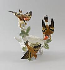 Porzellan Figur Vogel Stieglitz-Gruppe mit Nest Ens 21x22cm 9997666