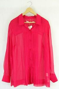 Jane Lamerton Long Sleeve Pink Top 18 by Reluv Clothing