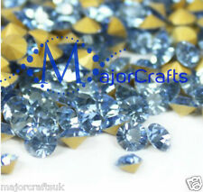 60pc Light Sapphire Blue ss29 6mm Point Back Glass Chatons Jewellery Rhinestones