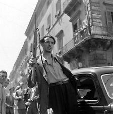 WW2 Photo WWII Italian Partisan  Rome Italy 1944  World War Two / 1422