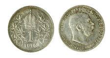 pcc1840_80) Franz Joseph I 1 Korona 1915 AG Toned
