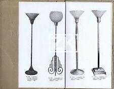 LUMINAIRE MONOLAMP Lampadaire Plafonnier Art Déco Torchère Aluminium Catalog 30s