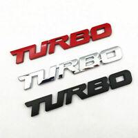 3D Metal Turbo Letter Emblem Badge Truck Auto Sticker Decal Car Accessories Top