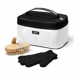Victoria's Secret Body Care Accessory Kit Travel Case, Exfoliating Gloves, Brush