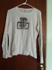 Tommy Hilfiger White  with Tree Logo, Long Sleeve Shirt Size Large  052418