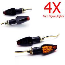 4X TURN SIGNAL LED LIGHT FOR HONDA DUAL SPORT DIRT BIKE MOTORCYCLE BLINKER SMOKE