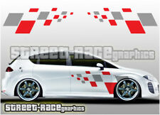 Seat side 015 squares graphics stickers decals Leon Ibiza Cupra FR Sport