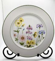 "Jardin Vanessa Dinner Plate Fine China Japan 10.375"" Diameter Floral Green Trim"