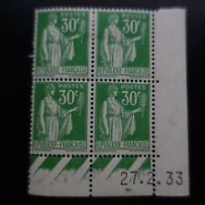 TIMBRE TYPE PAIX N°280 COIN DATÉ 27.02.1933 NEUF **/* (2 TIMBRES NEUF *)