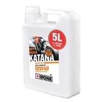 Huile IPONE KATANA Off-Road 10w40 5 litres motocross enduro 5L moto moteur bidon