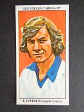 The Sun Soccercards 1978-79 - John Rutter - Stockport County #497