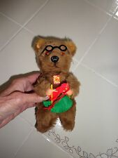 Vintage Carl Original Wind Up Mechanical Bear Germany Moves head arms to knit