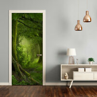 Home Mural Door Self Adhesive Removable Sticker Landscapes Tropical jungle