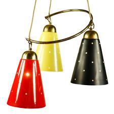 Pendel Leuchte Sputnik Orbit Lochblechtüten Hänge Lampe Vintage 50er Jahre
