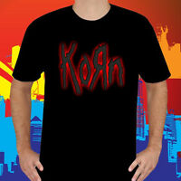 New KORN Heavy Metal Band *Red Logo Men's Black T-Shirt Size S to 3XL