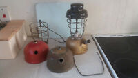COLLECTION VINTAGE TILLEY LAMP TANK  SPARES - -