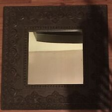 "Large 25""x 25"" Wall-mount Rectangular MIRROR with bronze ornate frame"