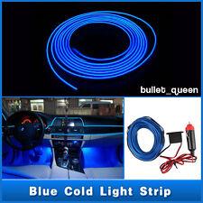 3M Blue EL Wire 12V Car Interior Decor Fluorescent Neon Strip Cold light Tape