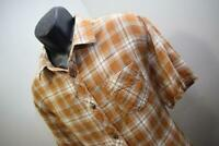33914 Mens NORTH FACE Fishing Hiking Plaid Button Up Camp Shirt Size XL