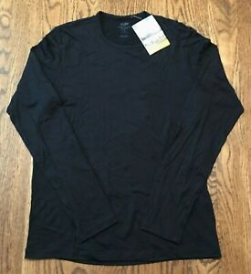 Icebreaker Mens Small Tech 200 Long Sleeve Crewe Shirt Base Layer Merino Wool