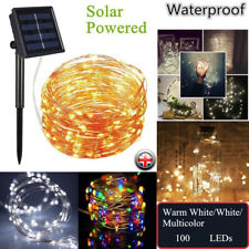 Solar LED Light Waterproof LED Copper Wire String Outdoor led strip Christmas UK