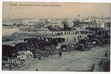 CARTOLINA 1913 TRIPOLI INNALZAMENTO DI UN PALLONE ESPLORATORE RIF 9885