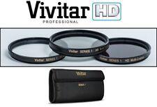 Professional 3-Pc (HD UV Polarizer & FLD) Filter Kit For Panasonic Lumix DMC-G85