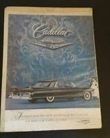 Vintage Cadillac Fleetwood 60 Car Advertisement 1960's Paper Ad Sign