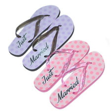 249a4baa7741 Mens   Ladies JUST MARRIED Flip Flops Honeymoon Bride Groom Wedding Gift  PRESENT