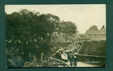 ON THE WAY TO CUCKLET DELL,EYAM,AUG 1911,vintage postcard