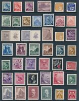 Lot Stamp Germany Bohemia WWII 3rd Reich Hitler AH Prague Red Cross Reinhard MH