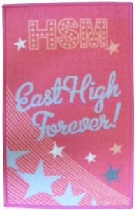High School Musical PROM Rug From Disney Colour Pink East High Forever