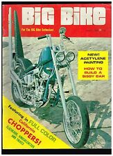 BIG BIKE AUGUST 1969 PREMIER ISSUE 60s STYLE KNUCKLEHEAD CUSTOM STREET CHOPPERS